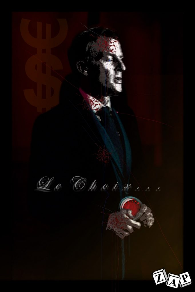 dessin presse humour coronavirus covid-19 image drôle Emmanuel Macron choix confinement