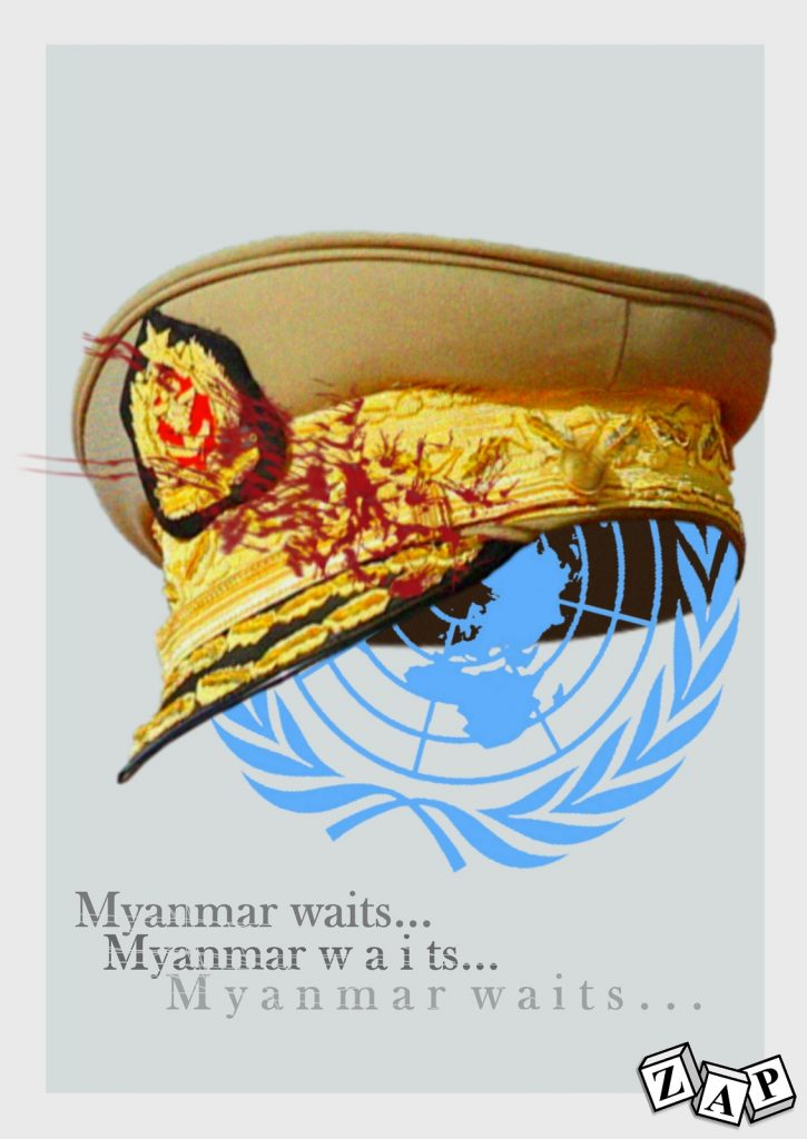 dessin presse humour Birmanie image drôle Myanmar ONU