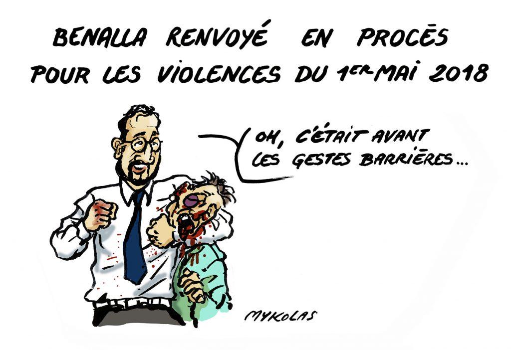 image drôle Alexandre Benalla dessins humour renvoi procès correctionnelle