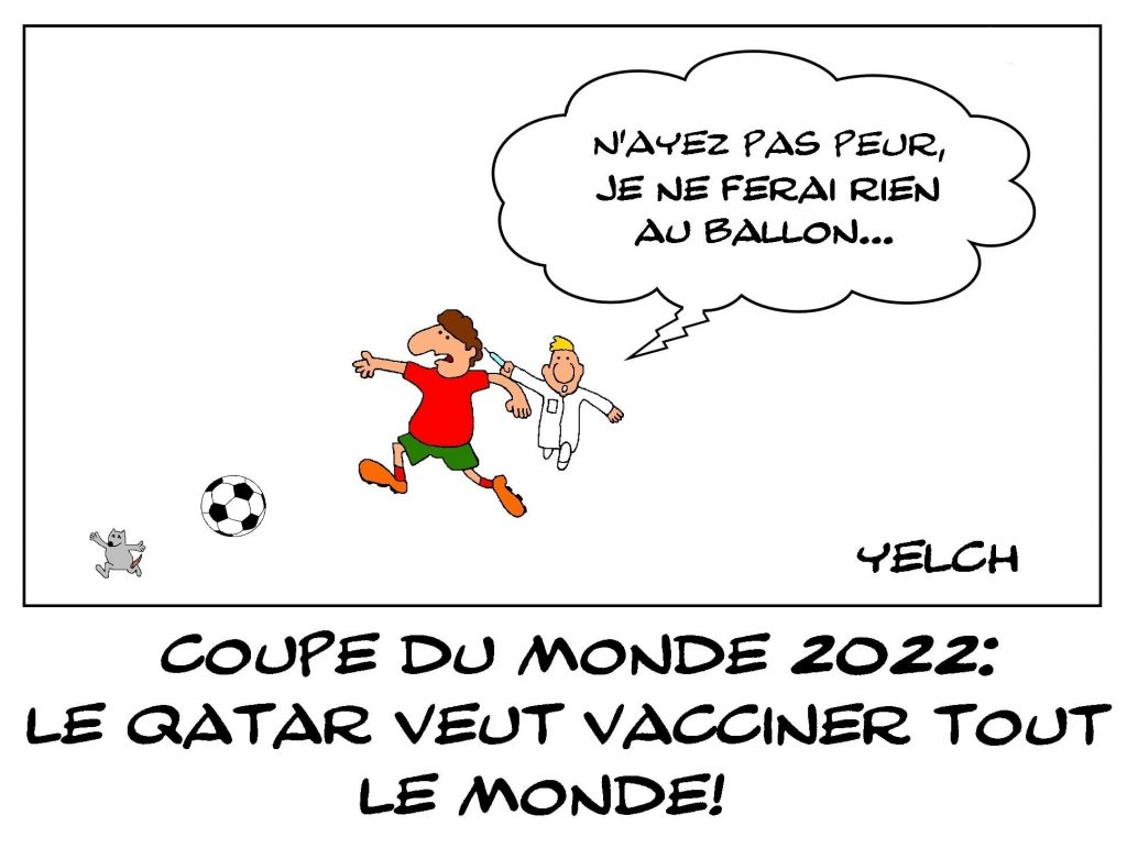 dessins humour coronavirus covid-19 image drôle coupe du monde Qatar vaccination