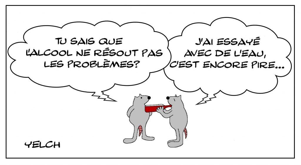 dessins humour alcool alcoolisme eau image drôle résolution problèmes