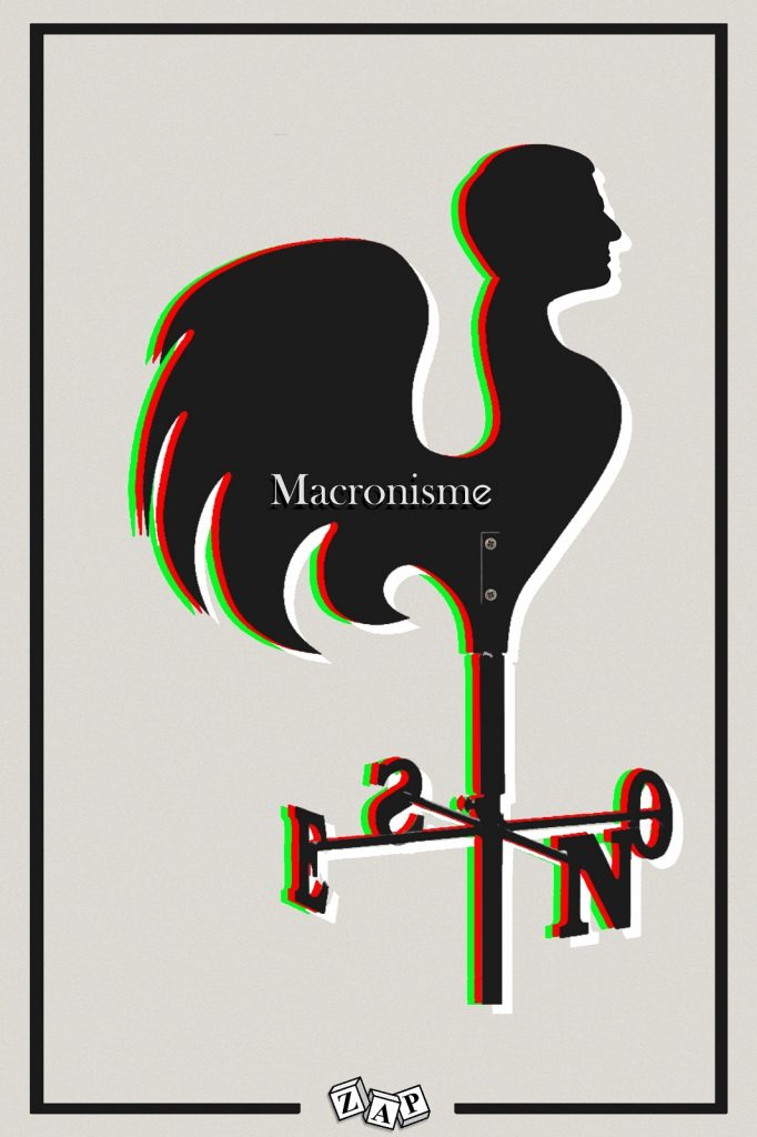 dessin presse humour Emmanuel Macron image drôle politique macronisme girouette
