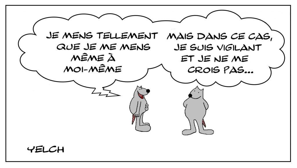 dessins humour mensonge menteur image drôle vigilance