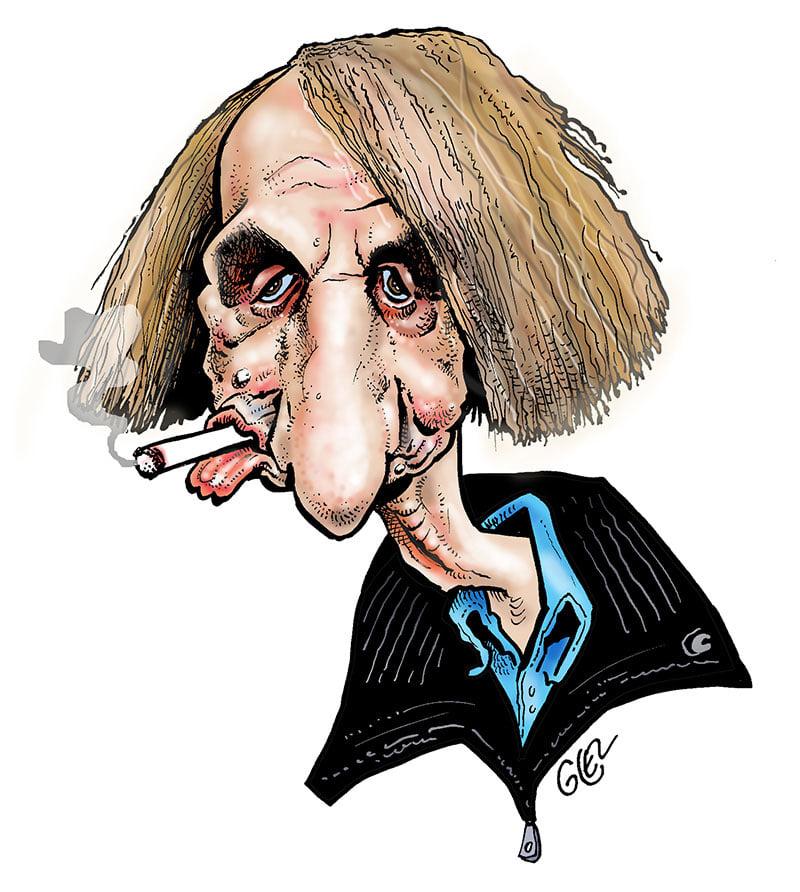 dessin presse humour Michel Houellebecq image drôle plaidoyer euthanasie
