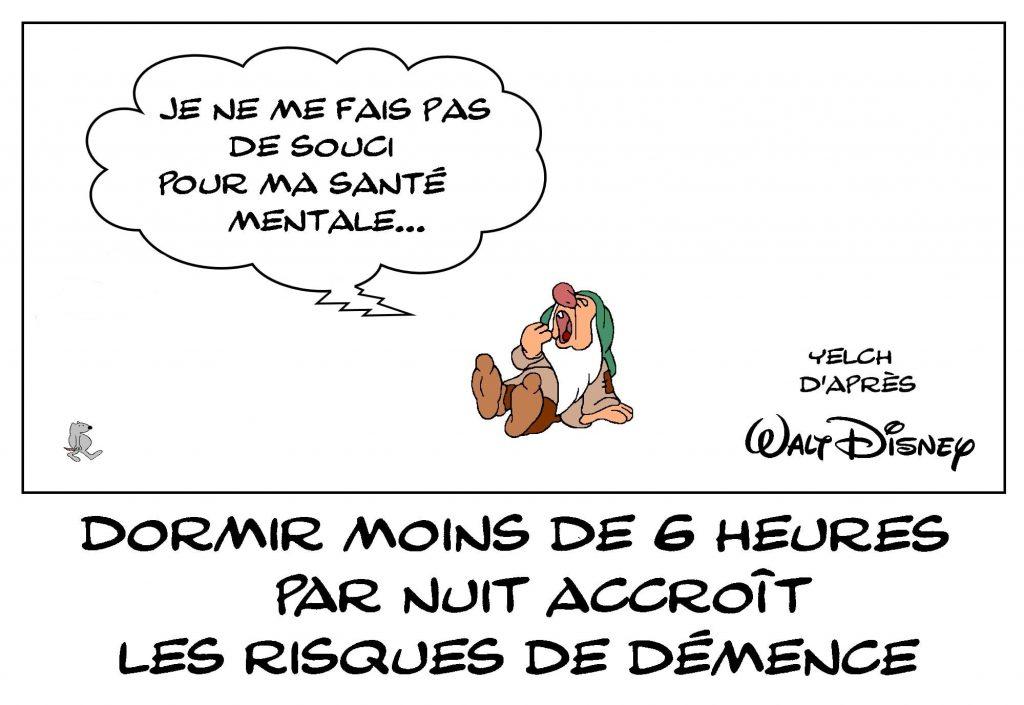 dessins humour manque de sommeil image drôle risque démence santé mentale dormeur