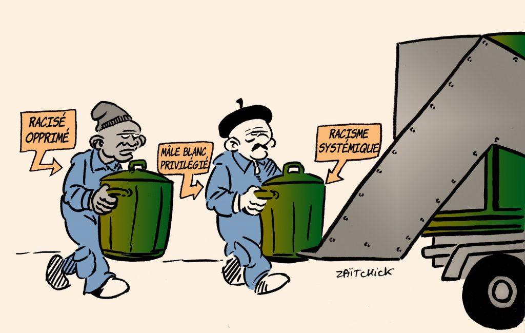 dessin presse humour racisme systémique image drôle privilège blanc