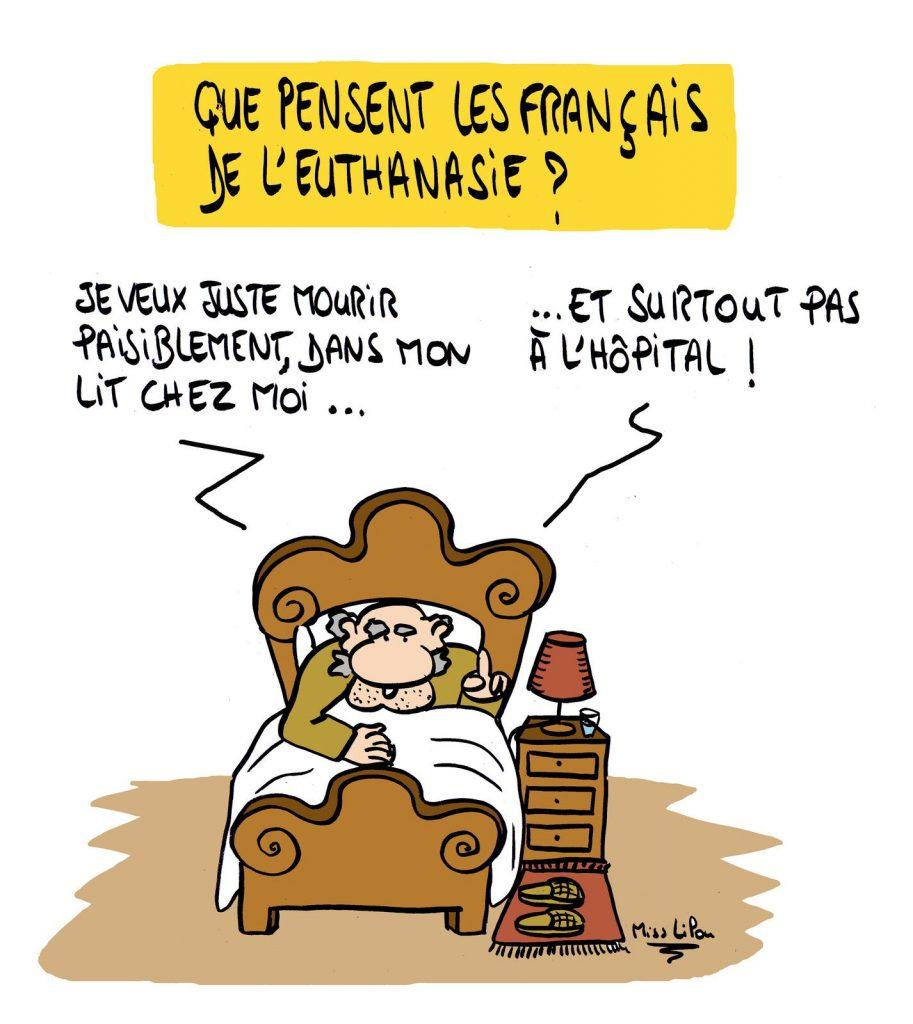 dessin presse humour euthanasie image drôle français