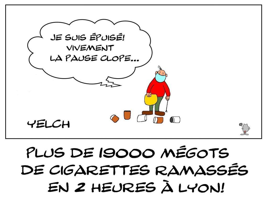 dessins humour Lyon cigarette image drôle ramassage mégots pollution