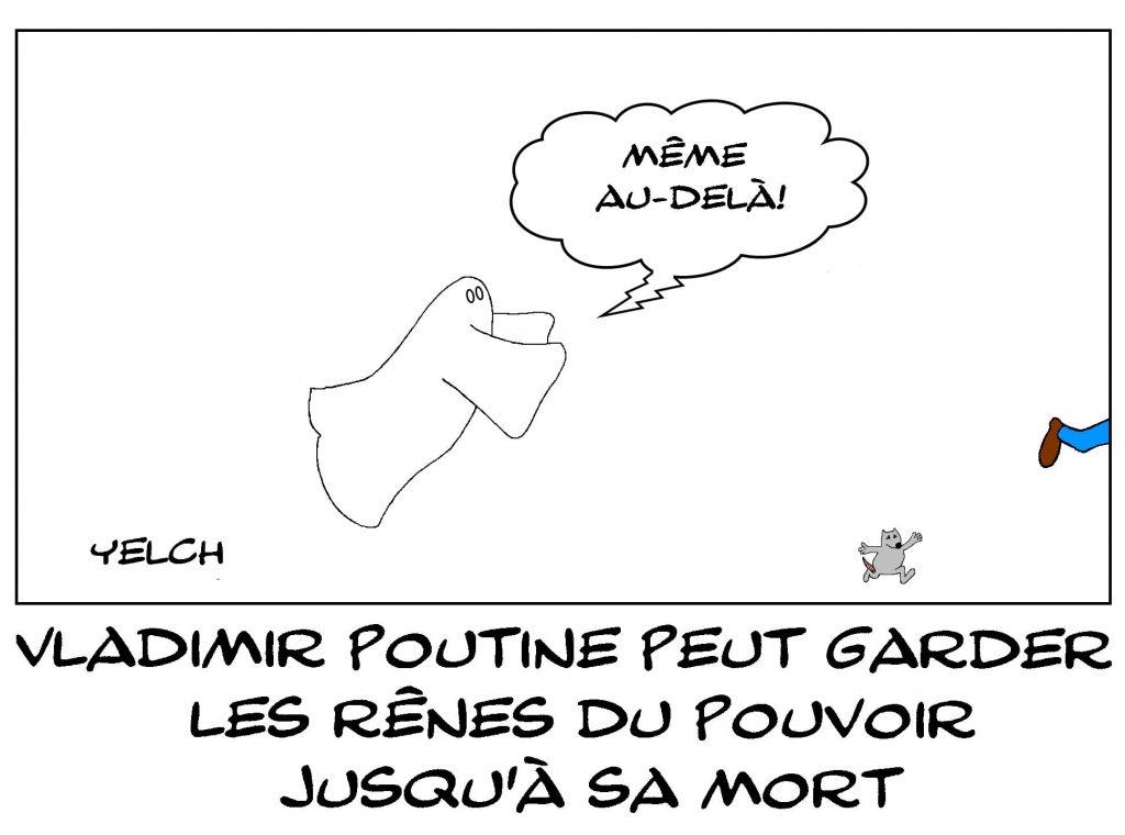 dessins humour Vladimir Poutine image drôle Russie pouvoir mort
