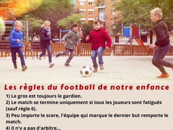 blague sport, blague enfance, blague foot, blague football, blague règles, blague ballon, humour