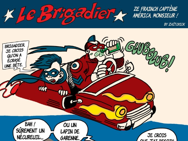 image drôle Le Brigadier dessin humour sidekick drogue pinard Lapin du métro prévention sécurité routière