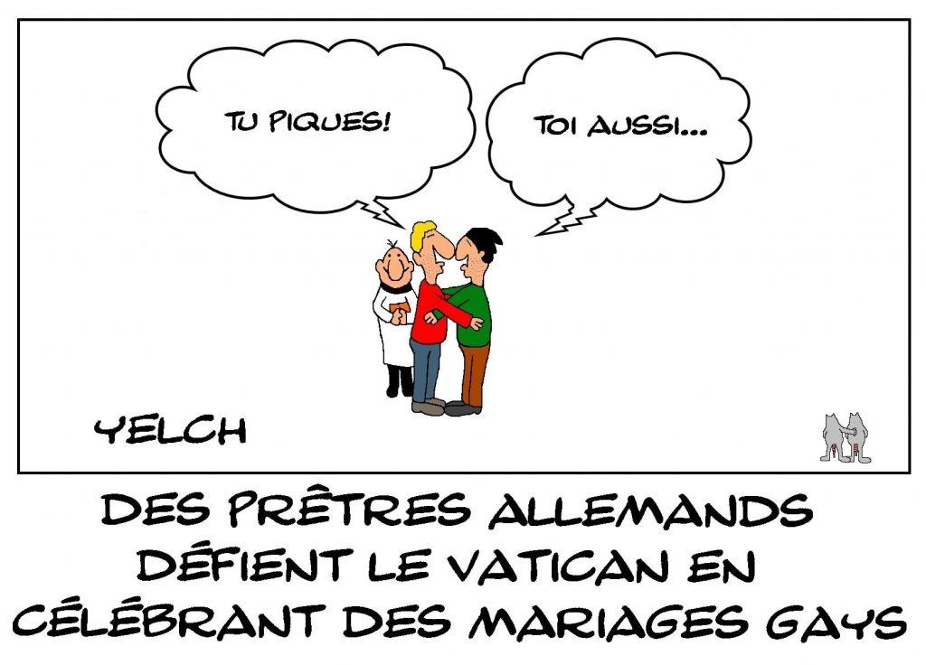 dessins humour Allemagne mariages gays image drôle défi Vatican