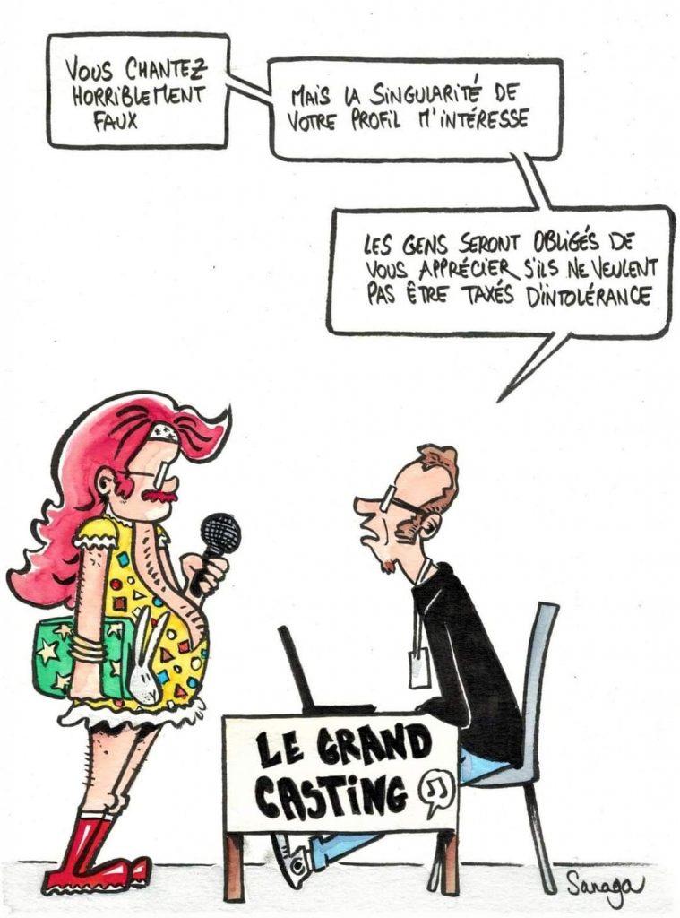 dessin presse humour culture woke chanson image drôle Eurovision intolérance casting