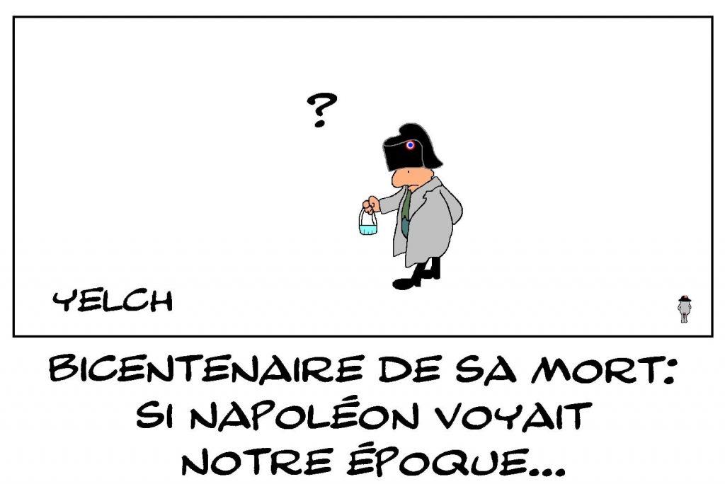 dessins humour coronavirus covid 19 image drôle bicentenaire mort Napoléon Bonaparte