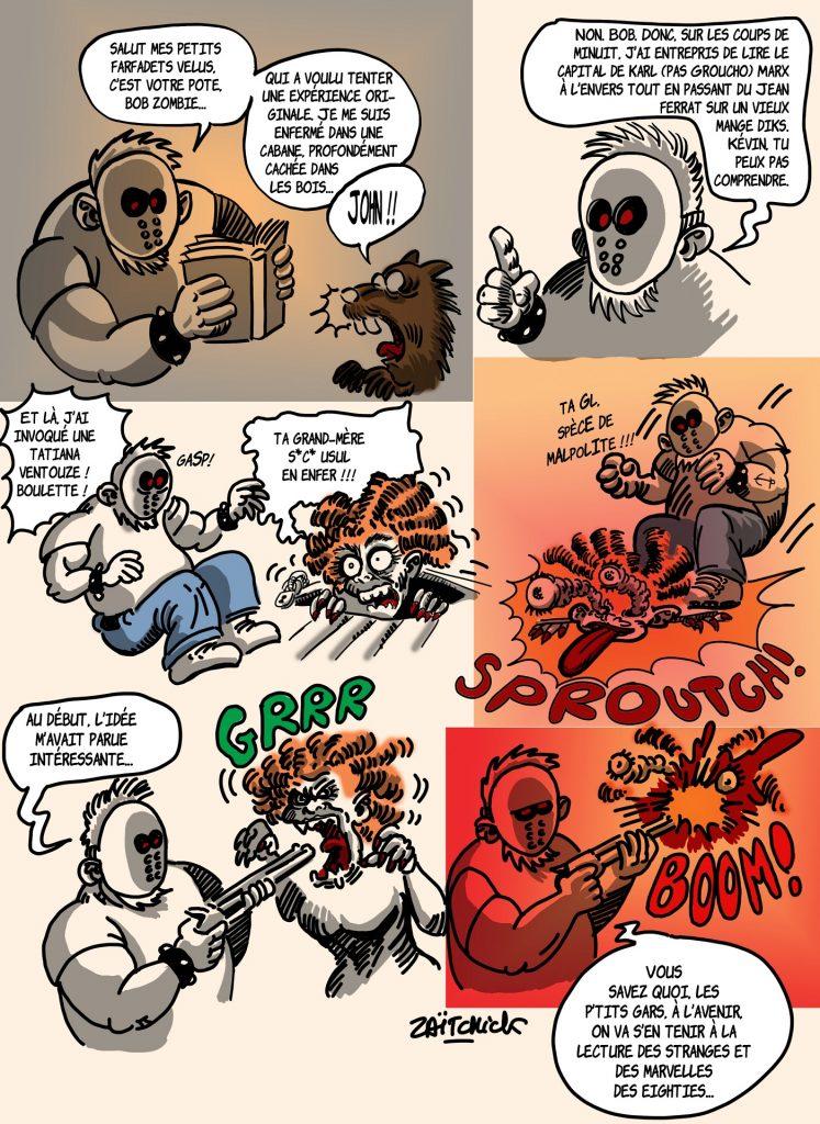 dessin presse humour Bob Zombie image drôle Evil Dead Tatiana Ventôse