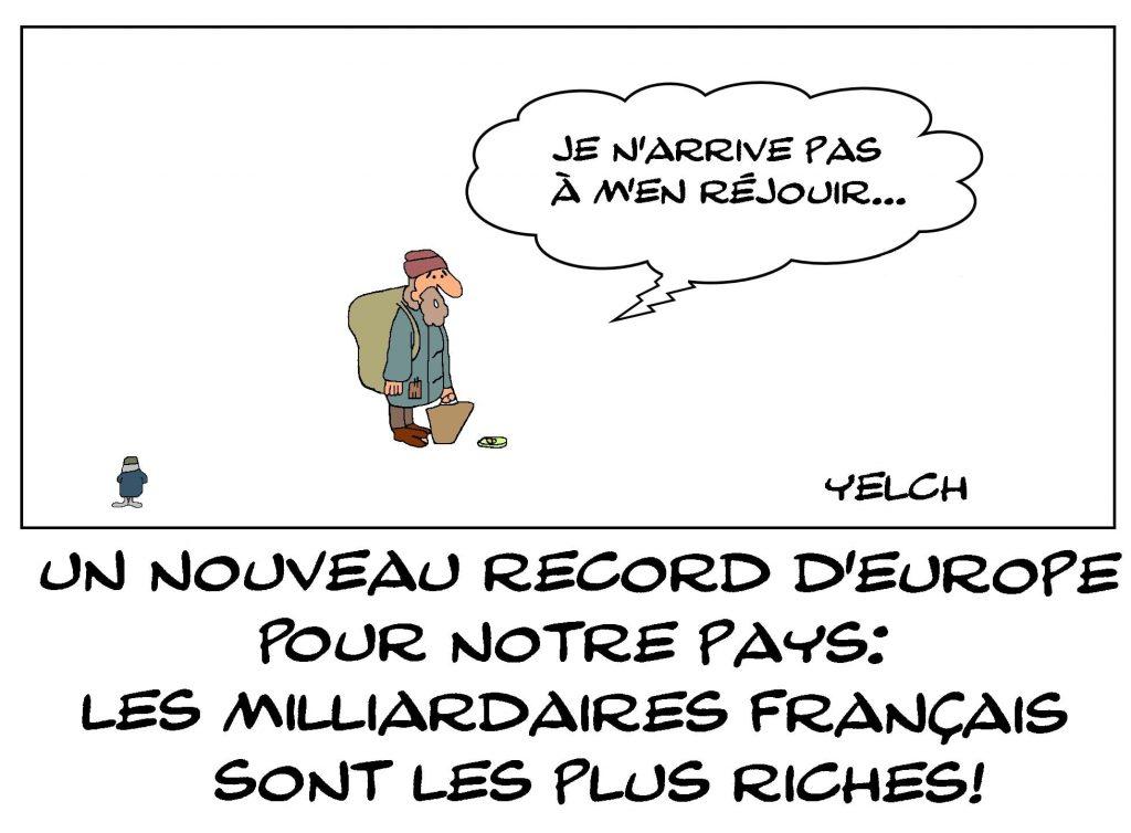dessins humour France milliardaires image drôle record richesse Europe