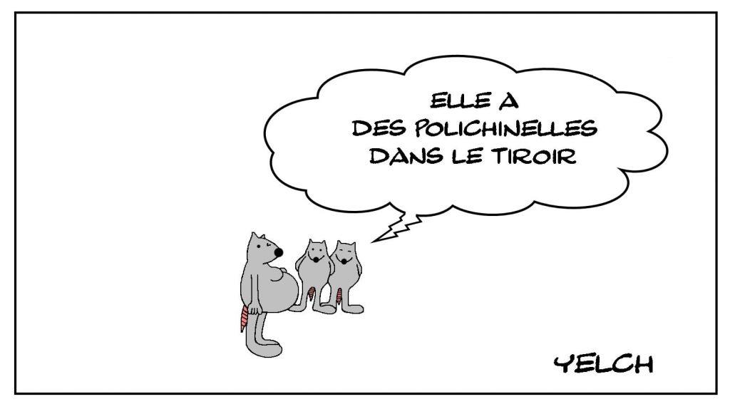 dessins humour expressions françaises image drôle polichinelle tiroir