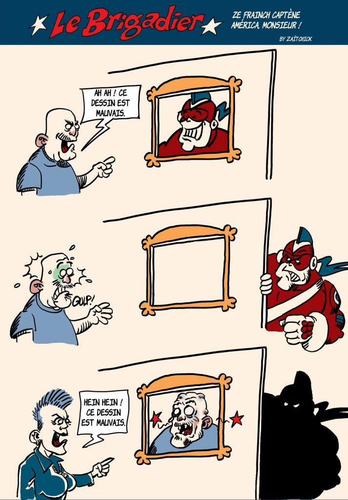 image drôle Le Brigadier dessin humour critique portrait