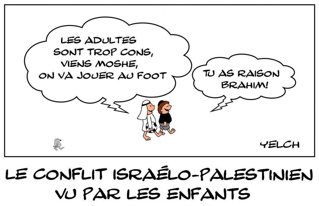 dessins humour conflit israélo-palestinien image drôle Israël Palestine football