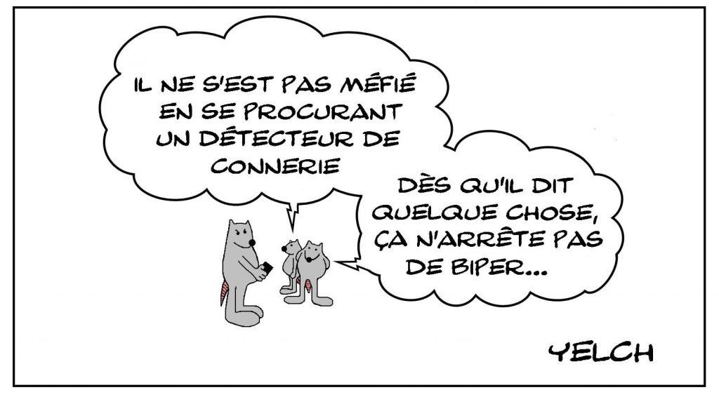 dessins humour arnaque détecteur image drôle bip connerie