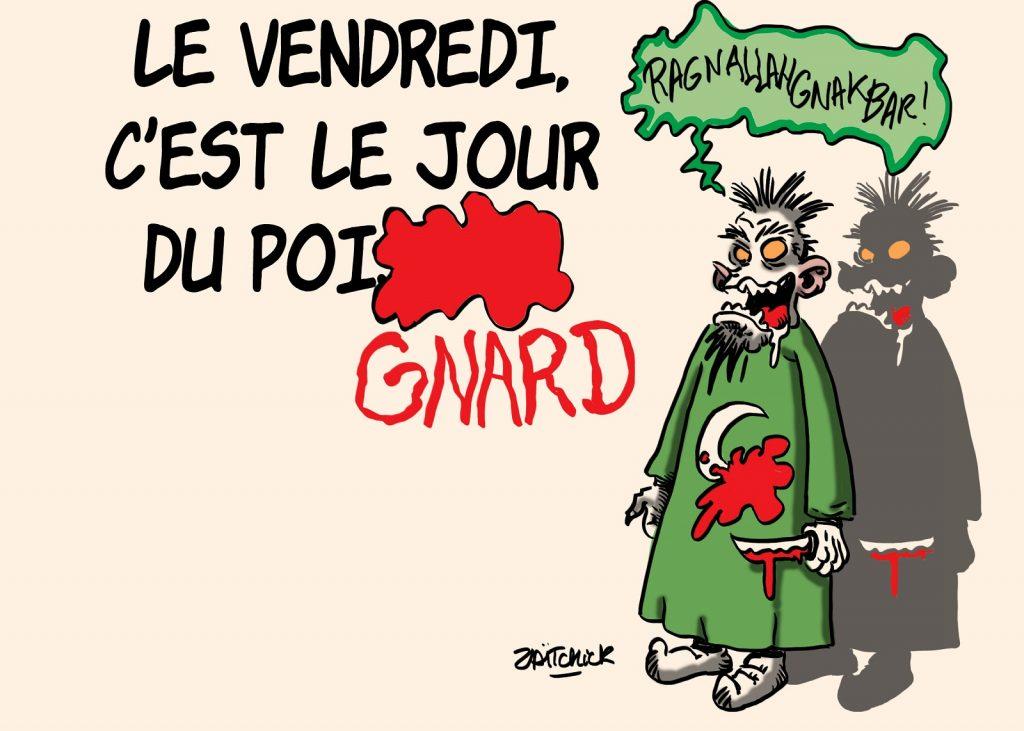 dessins humour attaque couteau image drôle La Chapelle-sur-Erdre
