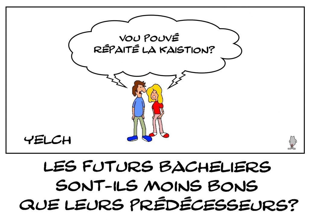 dessins humour baccalauréat bacheliers image drôle niveau scolaire