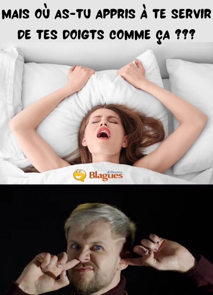 dessin humour sexualité doigtage image drôle orgasme entraînement