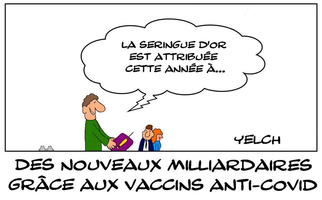 dessins humour coronavirus crise sanitaire image drôle milliardaires vaccins anti-covid
