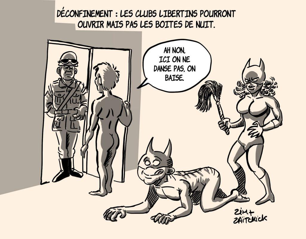 dessin presse humour coronavirus déconfinement image drôle club libertin discothèque