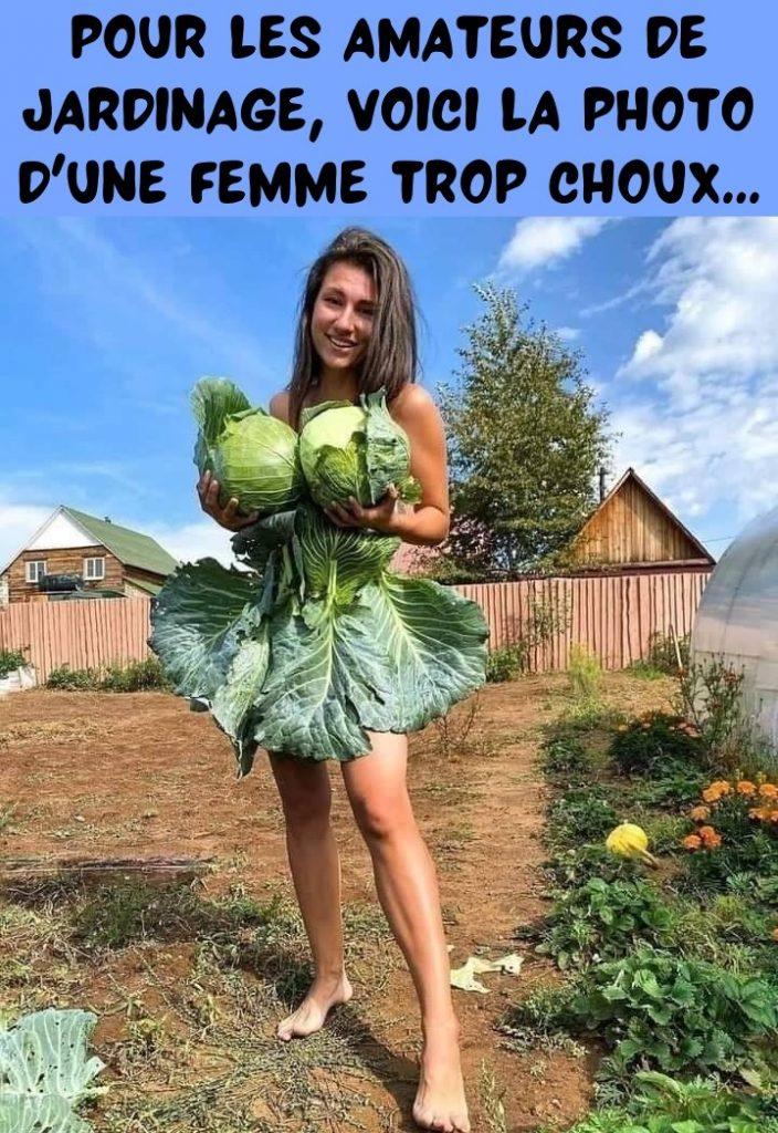 dessin humour femme jardin image drôle jardinage choux