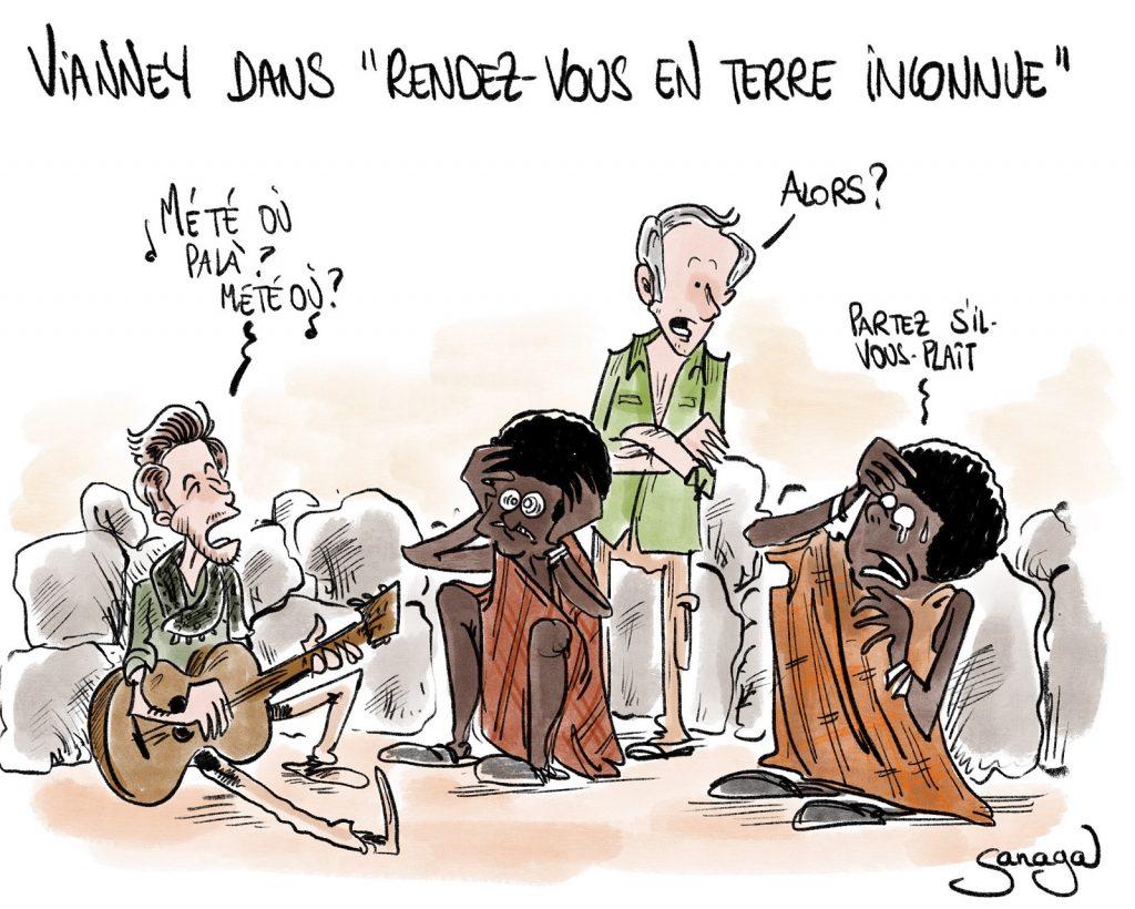 dessin presse humour Vianney Éthiopie image drôle Rendez-vous en terre inconnue