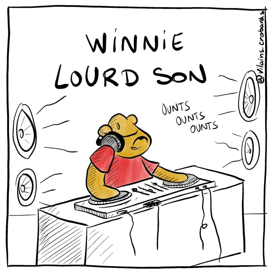 gag image drôle Winnie l'Ourson image drôle lourd son