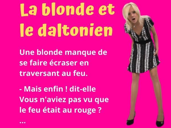 blague blondes, blague accident, blague feu rouge, blague daltonien, blague conducteur, blague daltonien, humour