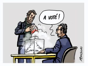 image drôle élections régionales enfarinage dessins humour vote blanc