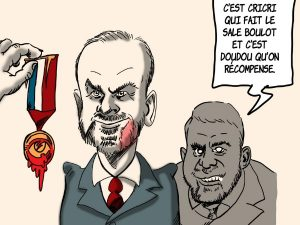 dessins humour légion d'honneur Édouard Philippe image drôle Emmanuel Macron