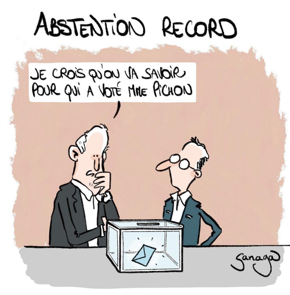 dessin presse humour élections régionales image drôle record abstention