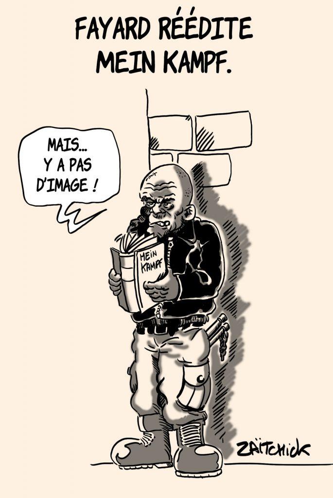 dessins humour Fayard réédition image drôle Mein Kampf Adolf Hitler