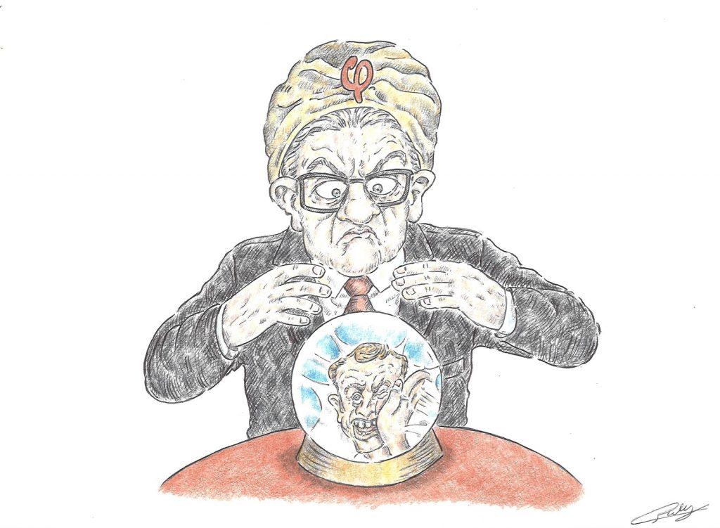 dessin presse humour Emmanuel Macron gifle image drôle Jean-Luc Mélenchon complotisme