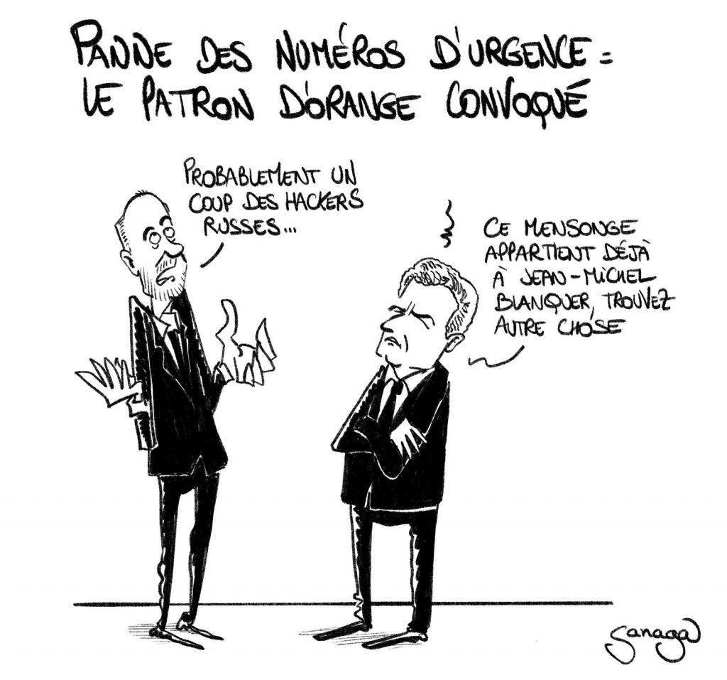 dessin presse humour panne numéro urgence image drôle patron Orange