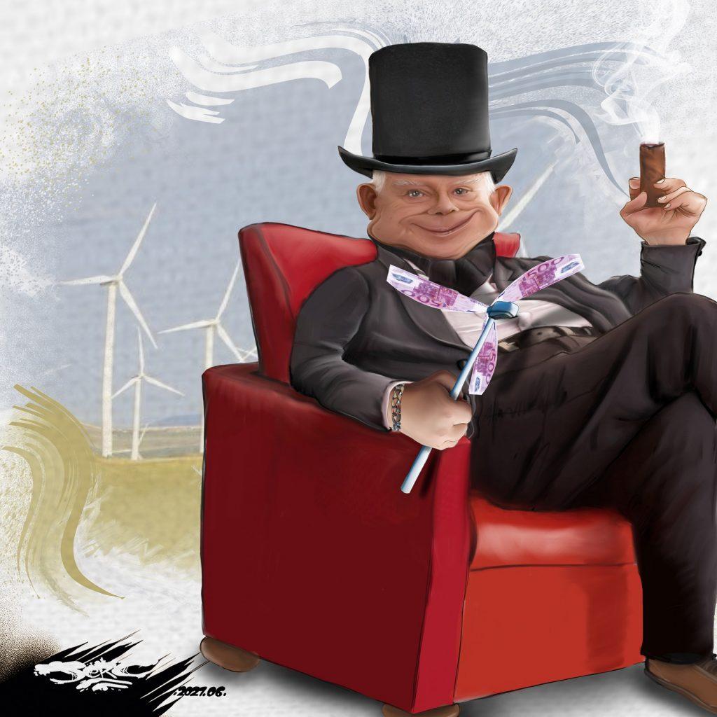 dessin presse humour écologie éolienne image drôle pollution profit capitalisme
