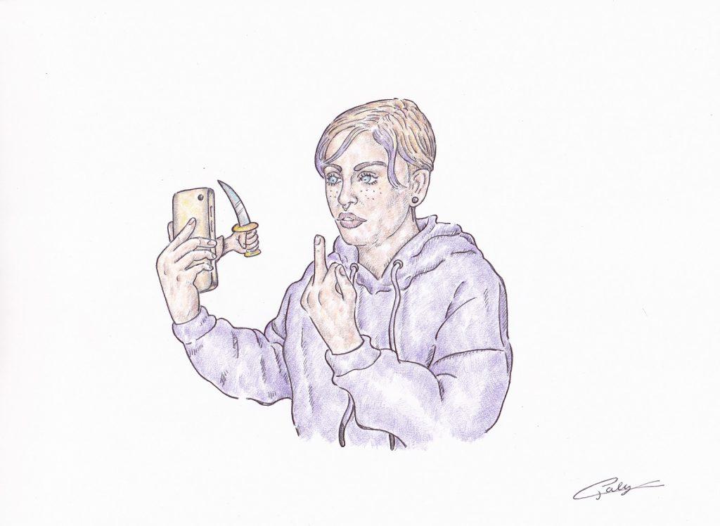 dessin presse humour affaire Mila image drôle cyberharcèlement menace mort