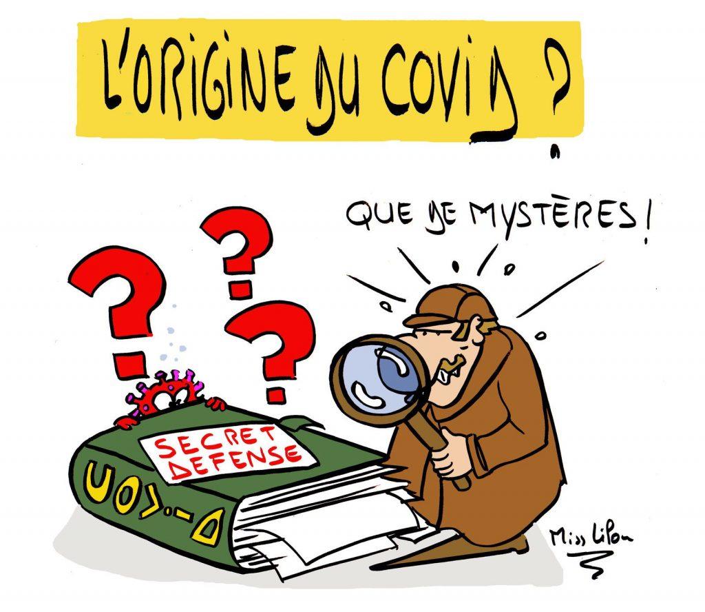 dessin presse humour origine covid image drôle mystère