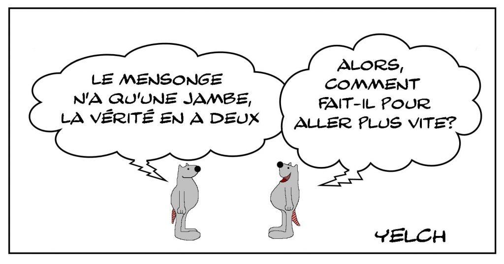 dessins humour mensonge unijambiste image drôle vérité jambe vitesse