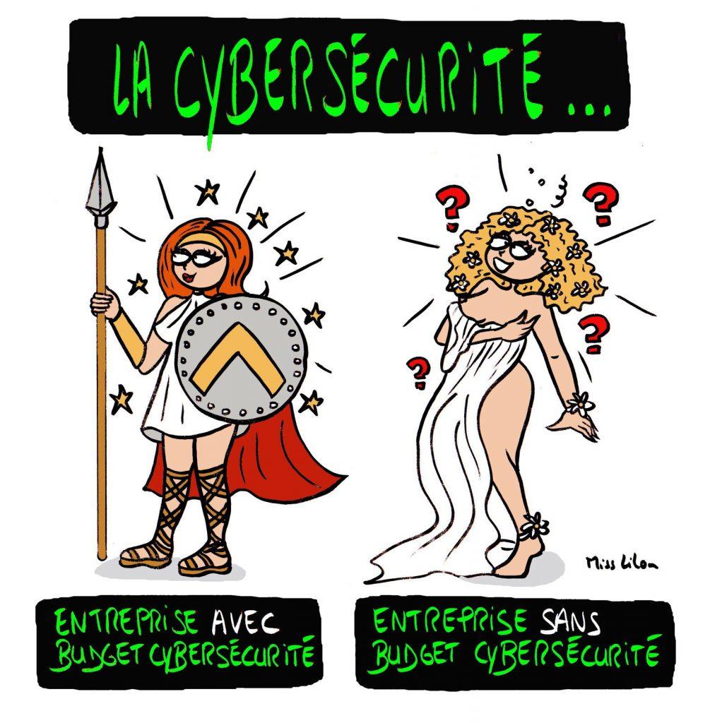 dessin presse humour entreprise image drôle cybersécurité