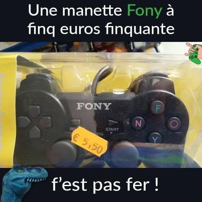dessin humour manette Sony image drôle manette Fony