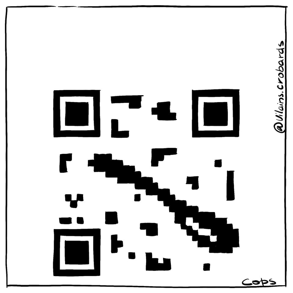 gag image drôle QR code image drôle cuillère code