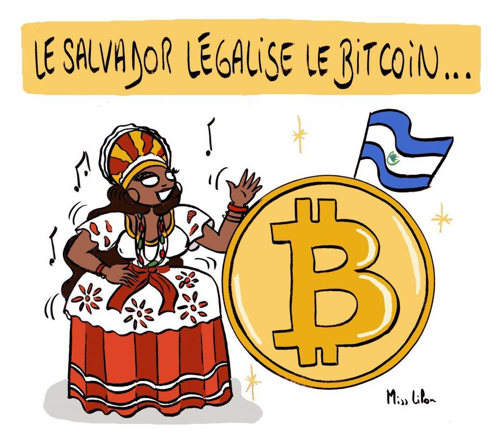 dessin presse humour Salvador légalisation bitcoin image drôle