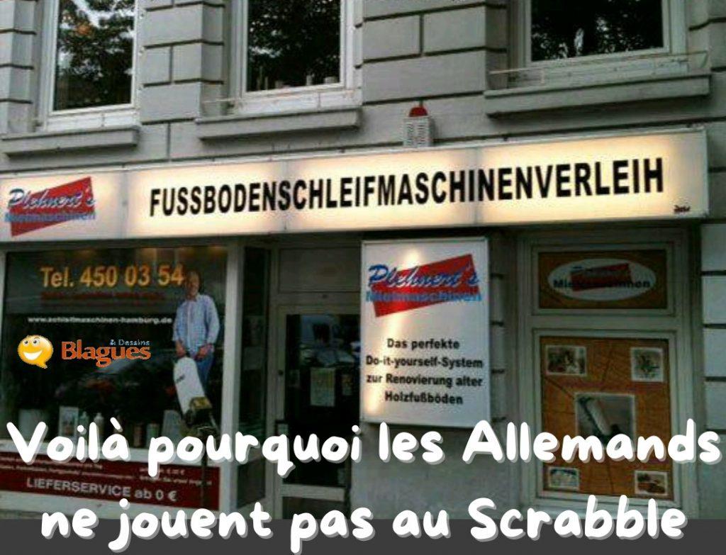 dessin humour Allemagne allemand Scrabble image drôle fussbodenschleifmaschinenverleih