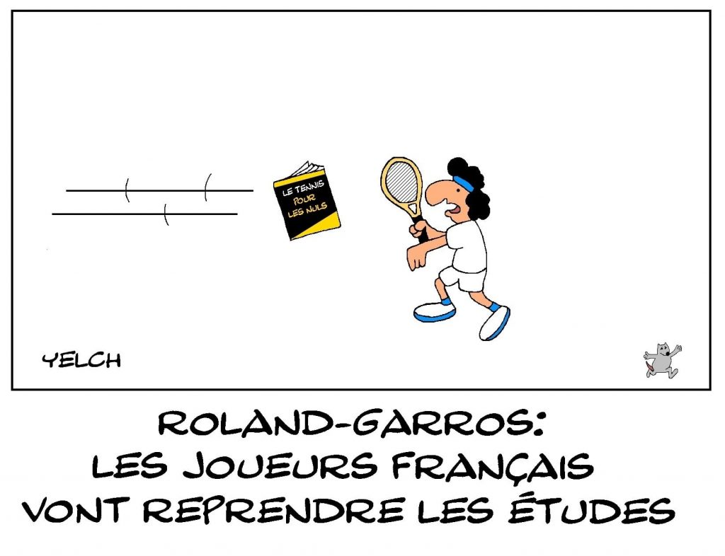 dessins humour Roland-Garros image drôle joueurs français cancres