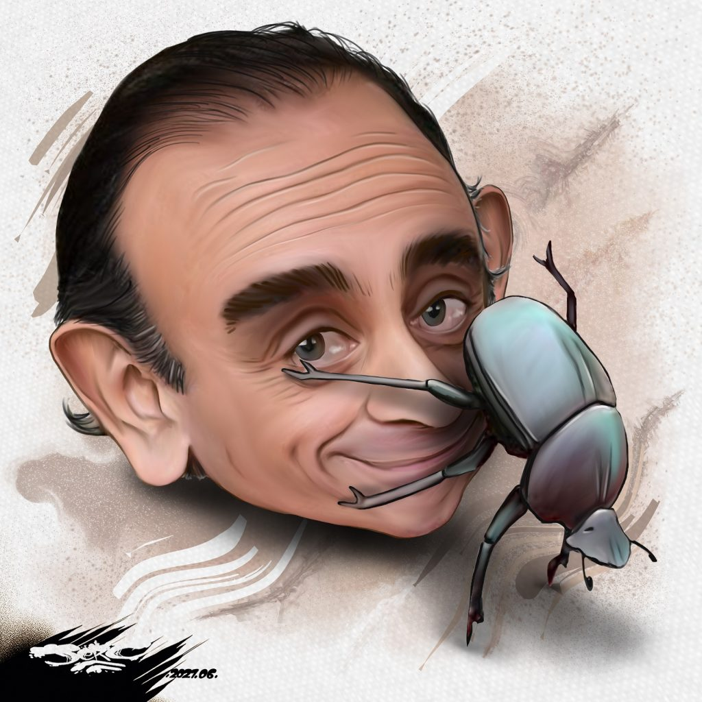 dessin presse humour Éric Zemmour image drôle polémique bousier